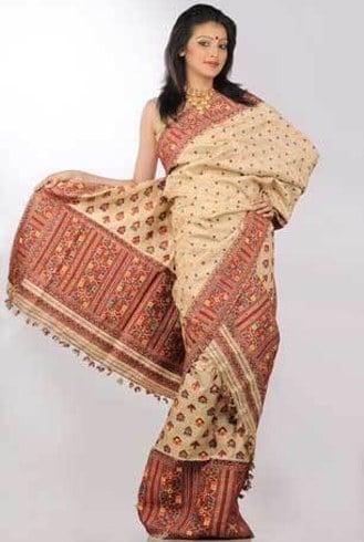 Muga Silk Sarees Designs