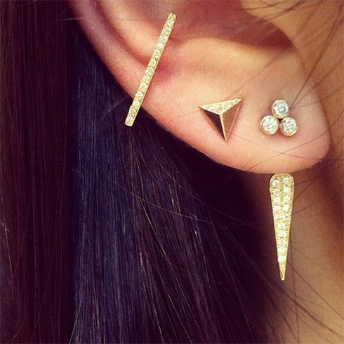 Multiple Earrings Ear Cuff Earrings