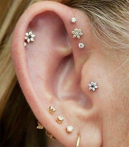 Multiple Earrings For Woman