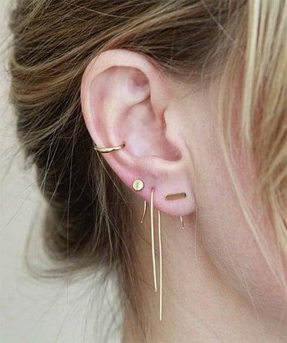 Multiple Gold Earrings