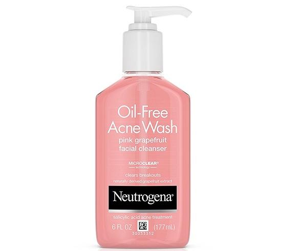 Neutrogena Oil Free Acne Wash Pink Grapefruit Cleanser