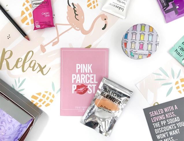 Pink Parcel Makeup Box