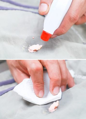 Remove Chewing Gum With Goof Off