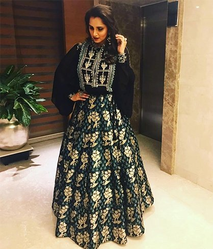Sania Mirza in Anita Dongre outfit