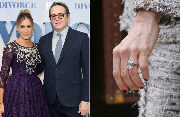 A count down of 34 stunning celebrity engagement rings for Sarah jessica parker wedding ring
