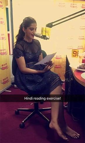 Sonam Kapoor Snapchat