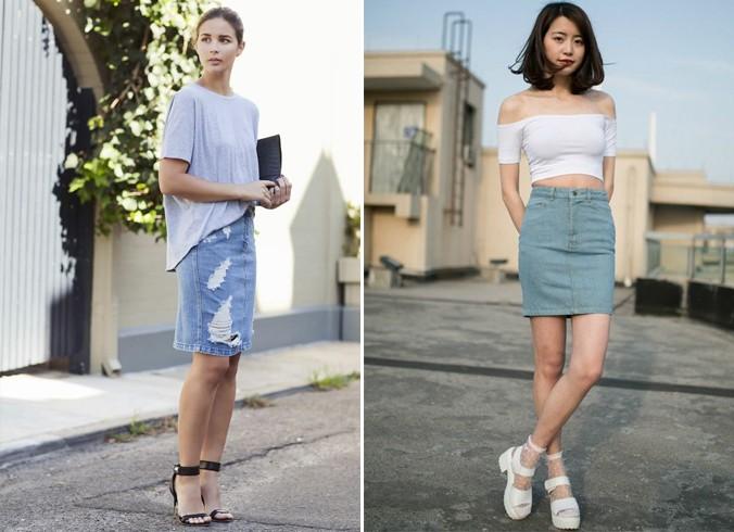 Top and High Waisted Skirt