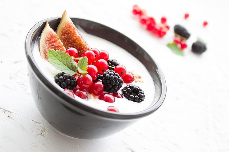 Yogurt and Fruits