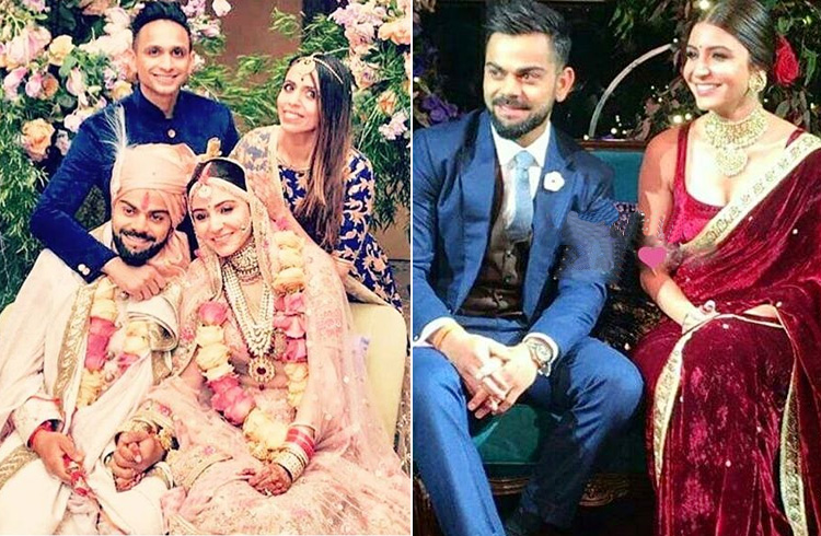 Anushka Sharma and Virat Kohli Marriage Photos