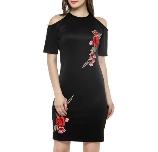 Black Bodycon Casual Dress