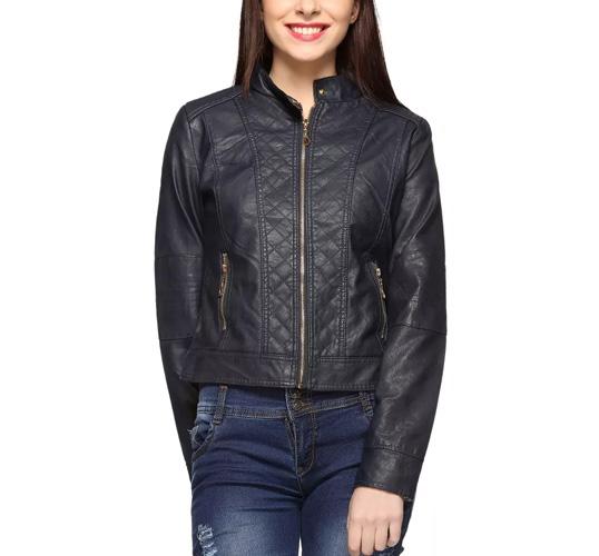Fasnoya Women's Faux Leather Jackets