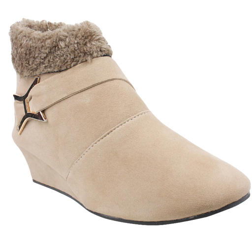 Nude Suede Ankle Boot