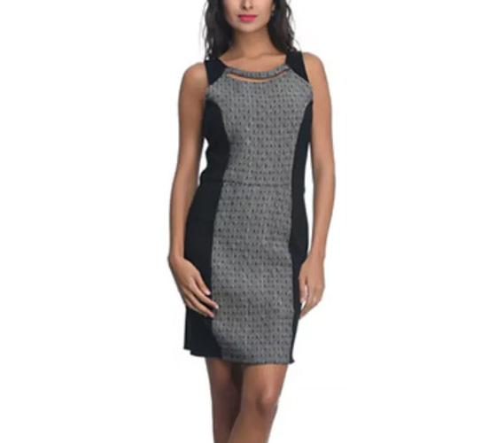 Rare Alessia Giocomel For Rare Black Sleeveless Polyester Dress For Women
