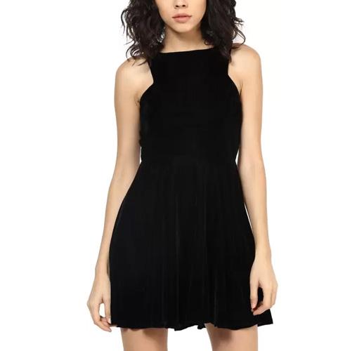 Roving Mode Women's A-line Black Dress