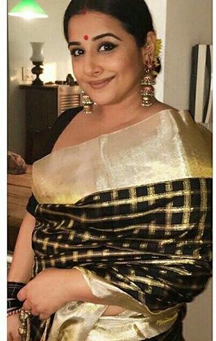 Vidya Balan Sari Style