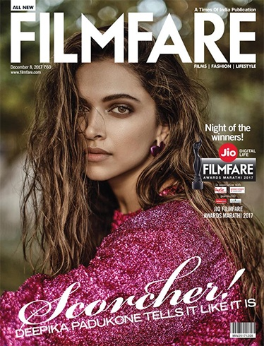 Deepika Padukone on Filmfare December 2017