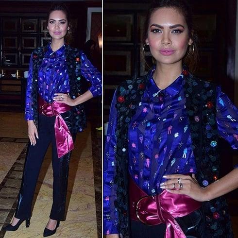 Esha Gupta in Blue