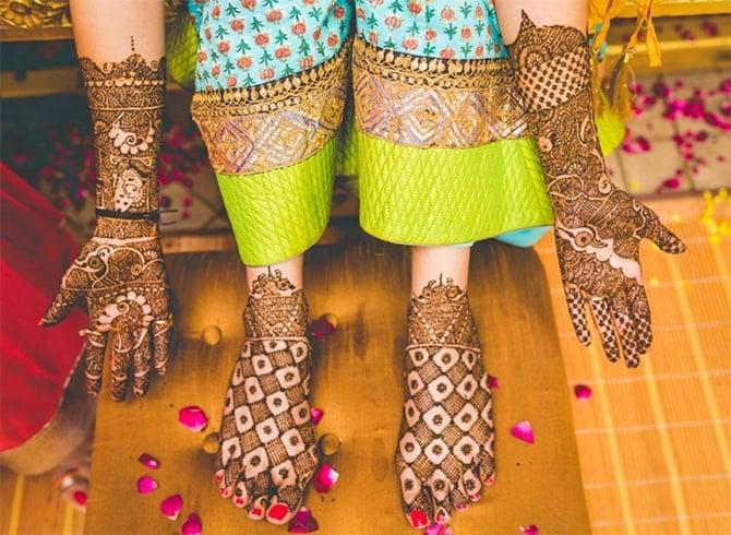 Full Hand Mehndi Design For Bridal