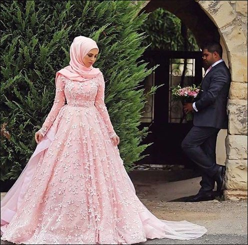 Hijab Modern Wedding Dress