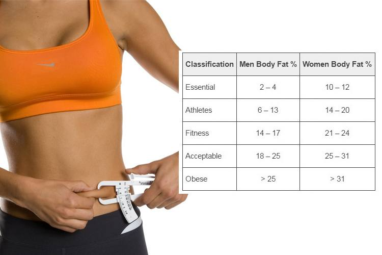 How To Use A Body Fat Percentage Chart