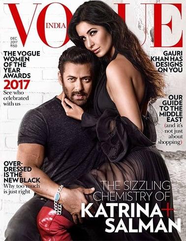 Katrina Kaif and Salman Khan on Vogue December 2017