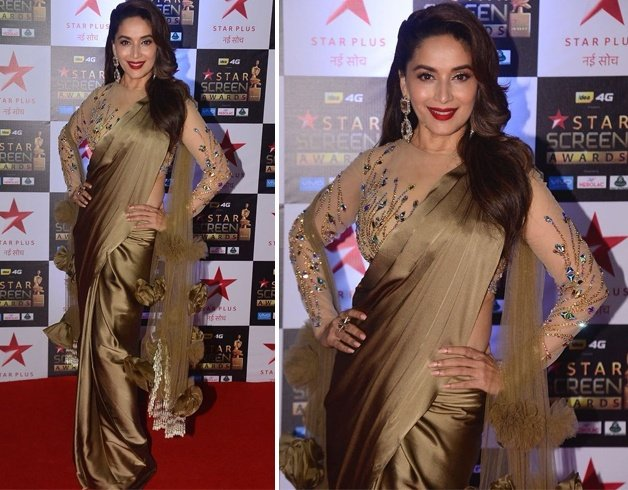 Madhuri Dixit at Star Screen Awards 2017