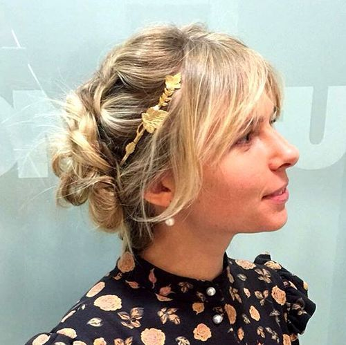 Messy Updo With Side Bangs