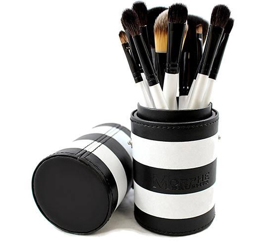 Morphe 12-Piece Black-and-White Travel Set