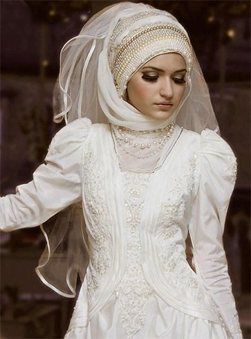 Muslim Hijab Wedding Dress