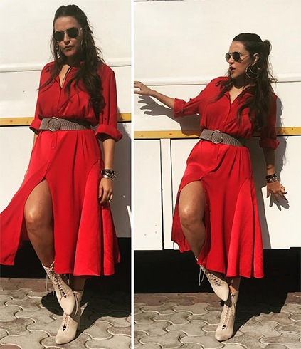 Neha Dhupia in Marks and Spencers label