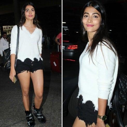 Pooja Hegde Airport Fashion