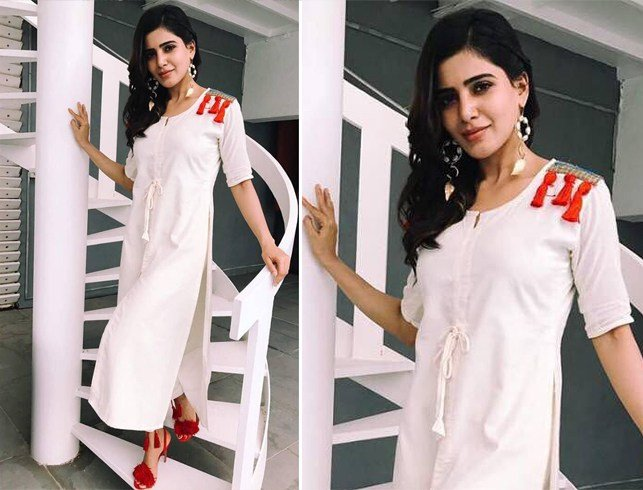 Samantha Akkineni in Kalki cotton kurta
