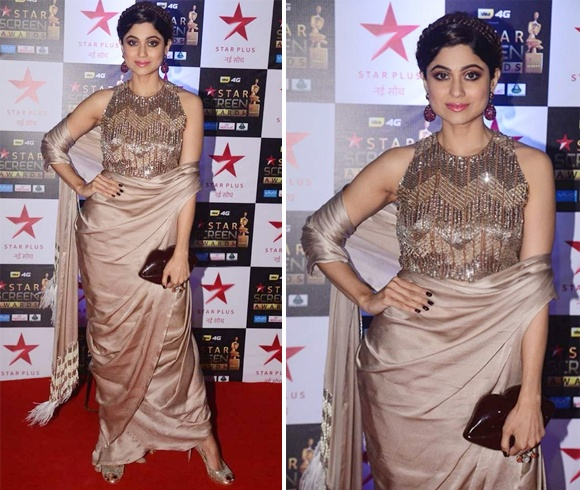 Shamita Shetty at Star Screen Awards 2017