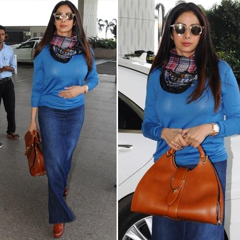 Sridevi Airport Fashion