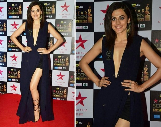 Taapsee Pannu at Star Screen Awards 2017