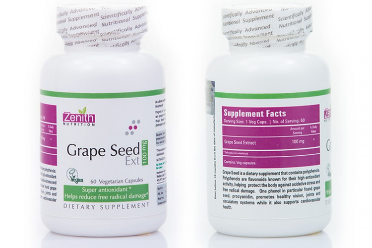 Zenith Nutrition Grape Seed Extract 100mg