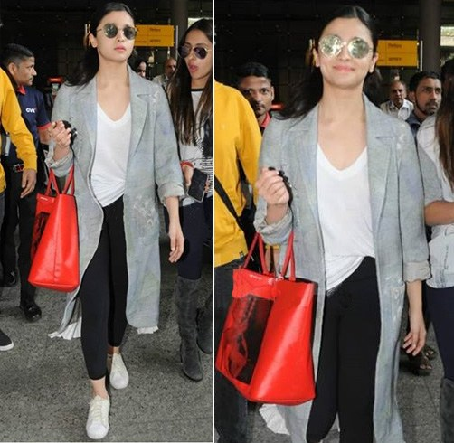 Alia Bhatt Airport Fashion
