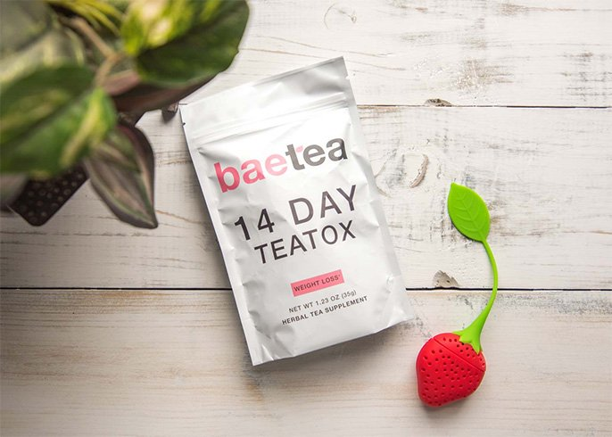 BaeTea 14 Day TeaTox Detox Herbal Tea Supplement