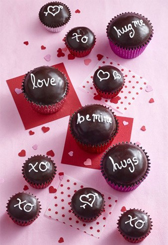 Chocolate Sweetheart Cupcakes