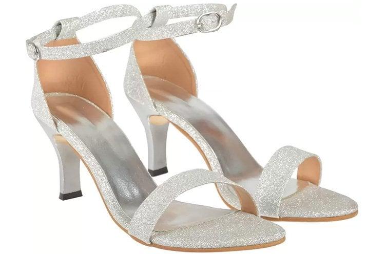 Jade Women Silver Heels