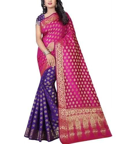 Kanjivaram Banarasi Silk Saree