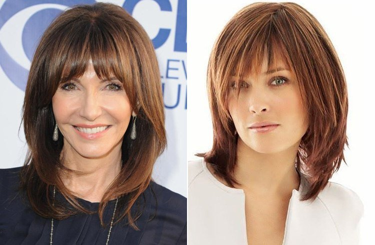 A Range Of Medium Hairstyles For Thin Hair Women Over 50