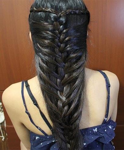 Mermaid French Braids