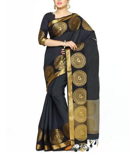 Mimosa Woven Banarasi Tussar Silk Saree