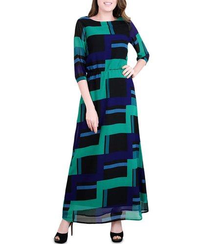 Multi Colored Georgette Dress