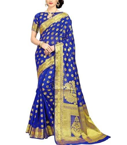 Panchratna Printed Banarasi Banarasi Silk Saree