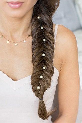 Pearls Embellished Braid