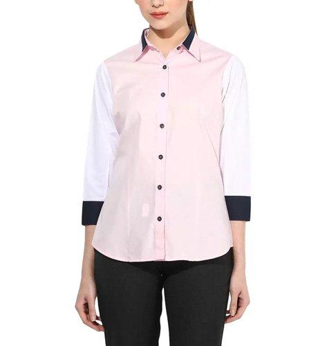 Pink Elegant Casual Shirt
