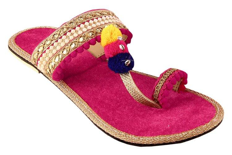 Pink Ethnic Kolhapuri