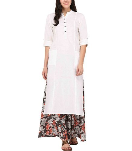 Pistaas Womens Cotton Kurta